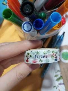 Watercolour bonsai washi tape