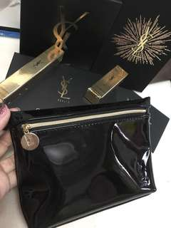 YSL beaute parfums pouch