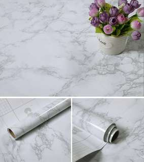 Glossy Marble PVC Removable Waterproof Wallpaper Sticker
