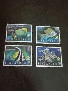 Singapore Stamps Fishes