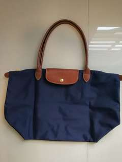 Longchamp Le Pliage Large Tote Bag (Navy)