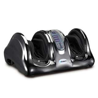 Devanti Foot Massager Ankle Calf Kneading Rolling Machine Two Motor Silver Black