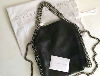 Authentic Stella McCartney Falabella Mini Tote Bag-Black