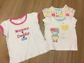 Girls TeeS : 3pcs