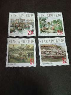 Singapore Stamps Old Scenes of Singapore