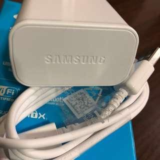 Samsung 三星 原廠 插頭 USB線 送原廠耳塞