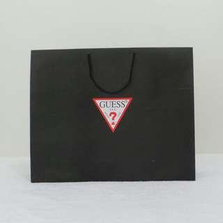 Guess Black Paper Bag