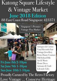 Vintage Flea Market Booths Available June 8-9-10