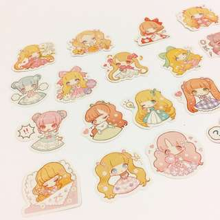 Set 25 : 19 pieces of fairy girl stickers