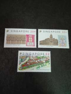 Singapore Stamps Conservation Buildings