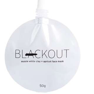 Blackout aussie white clay and apricot mask