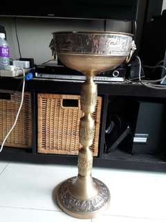 antique incense bowl is from eygpt.