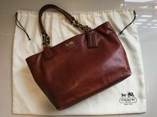 Coach Madison Leather Tote 20466 (Acorn)