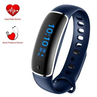 192. Fitness Tracker - Smart Bracelet Activity Tracker with Blood Pressure Monitor Heart Rate Monitor - Sports Wristband Watch IP67 Waterproof for iPhone and Android (Blue)