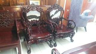 古董石面椅