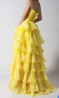 Yellow bridal gown wedding dress