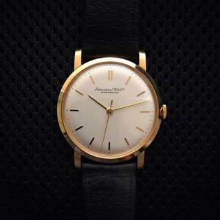 IWC 18K Solid Gold Vintage Watch