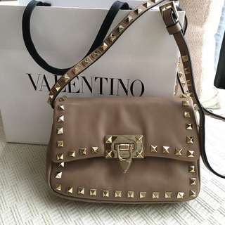 Valentino  rock studs leather camera bag  @@@ Made in Italy @@@