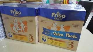 Friso Gold 3 1.2kg x2 value pack