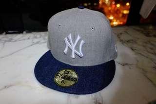 New Era 牛仔布 灰色 棒球帽 Baseball Cap Size 6 3/4