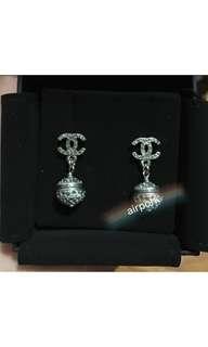 Chanel Crystal Embellished Dangling Earrings