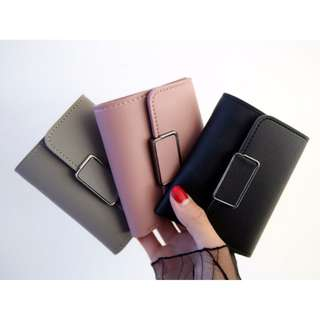 [ READY STOCK ] SQUARE BUCKLE WALLET