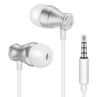 194. Wired Earbud In-Ear Headphones with Microphone - vastland 2017 NEW Bass Stereo Earphone Fit for Men and Women, Noise Isolating Corded Headset for iPhone Samsung Galaxy S8 S7 S6 etc.(Silver and White)