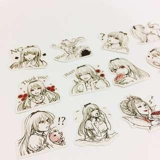 Set 35 : 15 pieces of vampire stickers