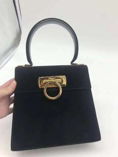 Salvatore Ferragamo suede carry bag