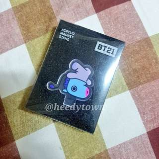 (PROMO) READY STOCK - BT21 OFFICIAL ACRYLIC MAGNET STAND (MANG)