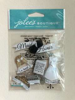 Maid of Honor Wedding Stickers for Scrapbook