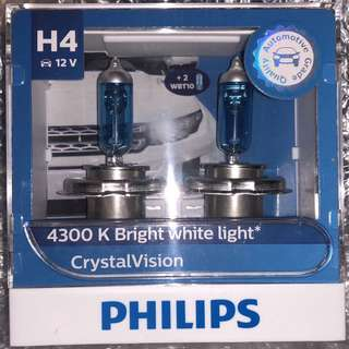 H4 4300K Philips Crystal Vision - CHEAP!!