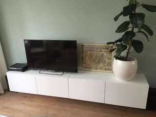 Kabinet Tv BESTA suspension rail IKEA