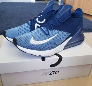 Men's Navy and Light blue air max 270