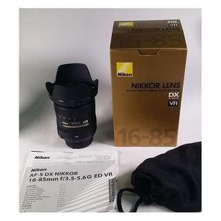 Nikon AF-S 16-85mm F3.5-5.6G ED VR 公 (NL032)