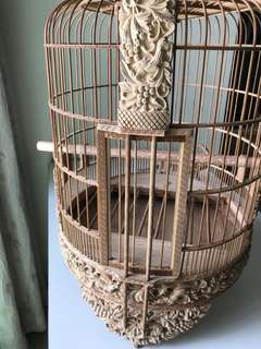 "3D 🇻🇳 14"" Hwamei cage squirrel carvings"