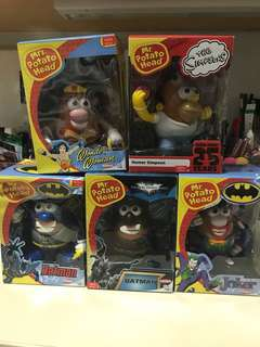 5 for $55! Mr Potato Head collectibles super hero series