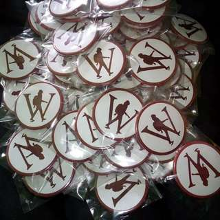100 pcs customize button pins