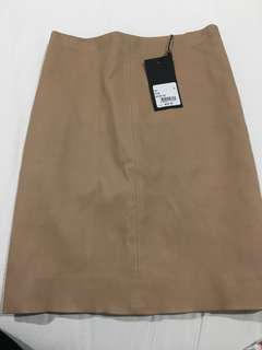 Tan Leather Kookai Skirt - Brand New