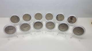 Sg mint 12 Zodiac coins 1981 to 1992