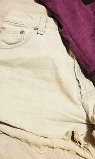 Secondhand Jumper - Denim Shorts