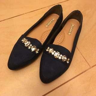 全新 日本 超舒服 Vivien 深藍平底鞋 Comfy Flat
