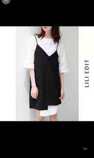Taobao lili edit minimalist monotone asymmetric dress