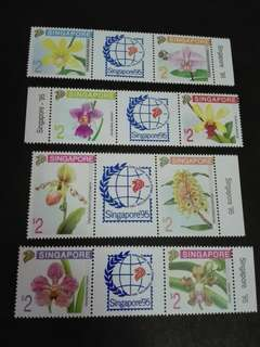 Singapore Stamps Orchids