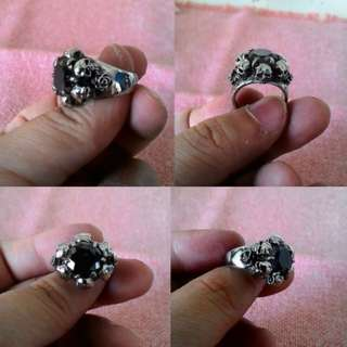 Cincin Rose Skull Stainless