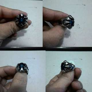 Cincin Retro Stone Stainless Steel