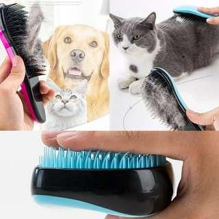 Pet detangle brush comb