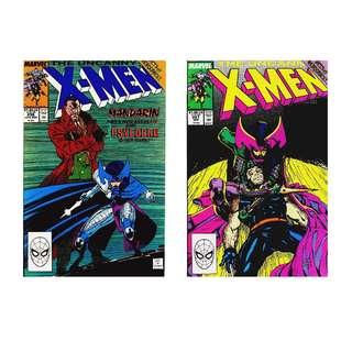 The Uncanny X-Men #256 #257 Set ( First Ninja Psylocke)