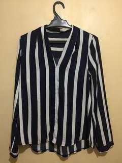 Pre-loved Korean Longsleeve Stripes polo