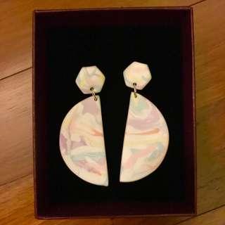 BN Gracieux Co Handmade Pastel Watercolour Earrings
